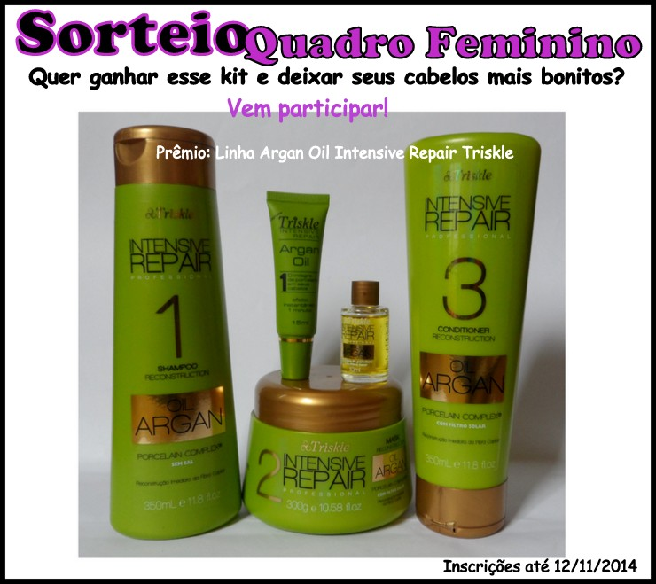 Sorteio Kit Argan Oil Intensive Repair Triskle