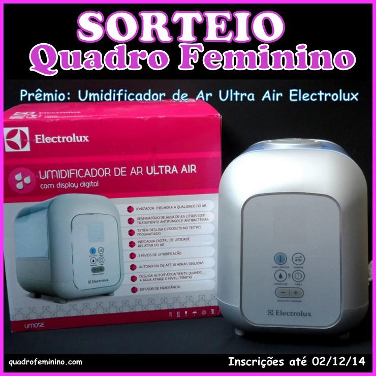 Sorteio Umidificador de Ar Ultra Air Electrolux