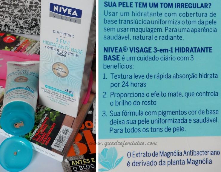 3 em 1 Hidratante Base Pure Effect - Nivea Visage