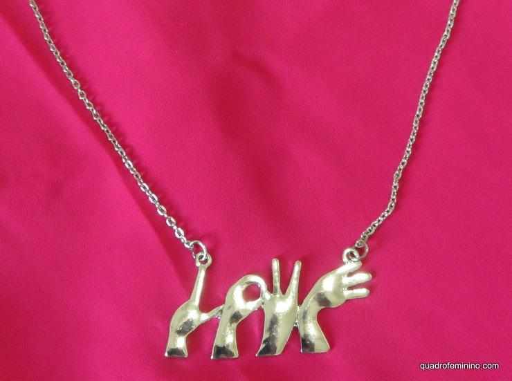 Colar Love - Romwe
