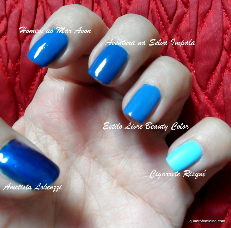 Degradê Azul - Risqué, Beauty Color, Impala, Avon, Lokenzzi (2)