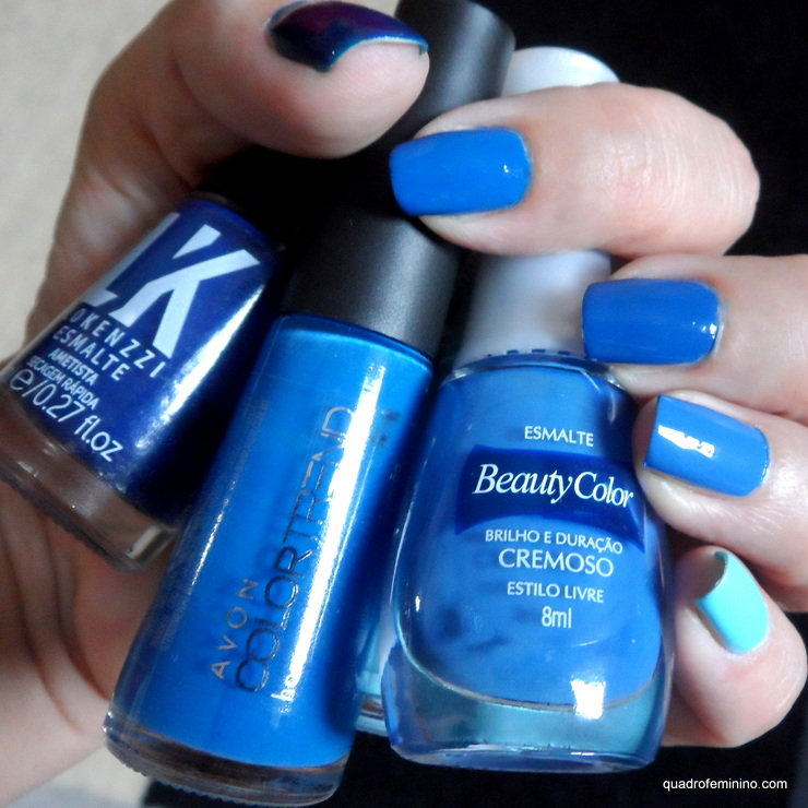 Degradê Azul - Risqué, Beauty Color, Impala, Avon, Lokenzzi