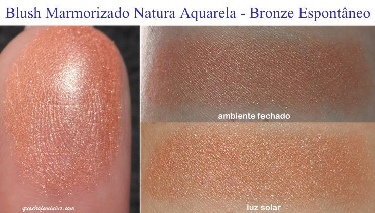 Blush Marmorizado Natura Aquarela - Bronze Espontâneo