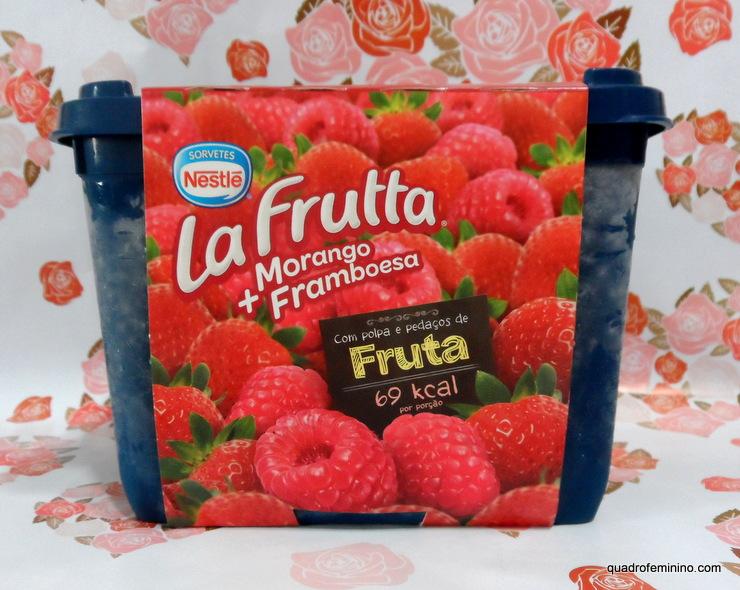 Sorvete La Frutta Nestlé Morango + Framboesa