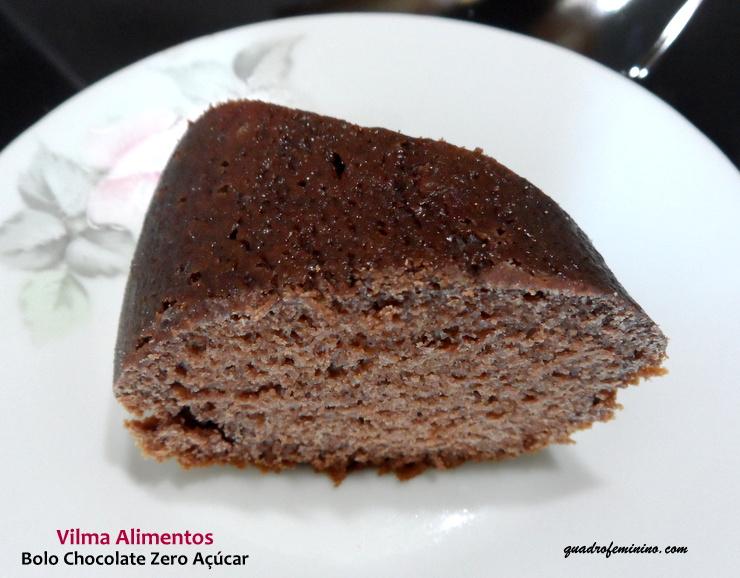 Bolo de Chocolate Zero Açúcar Vilma Alimentos