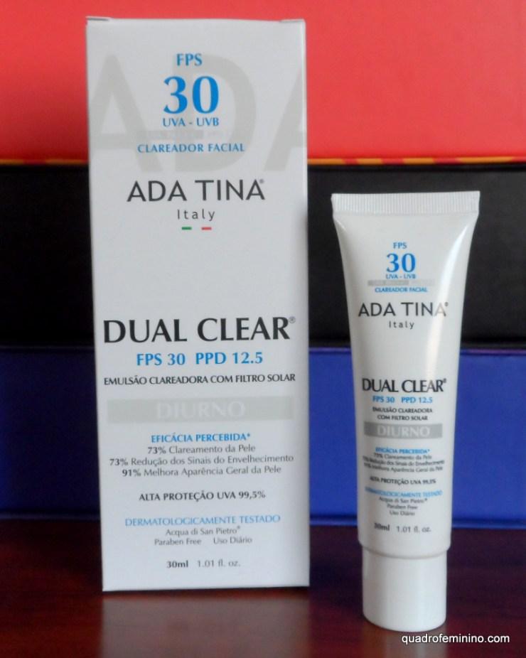 Ada Tina Dual Clear FPS 30 - Emulsão Clareadora