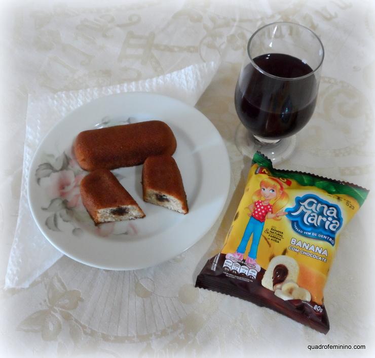 Ana Maria Banana com Chocolate - bolinho