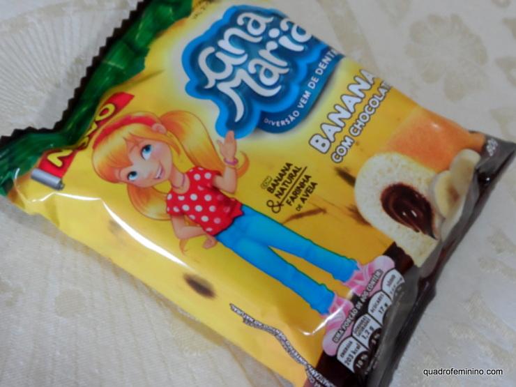 Ana Maria banana com chocolate e aveia