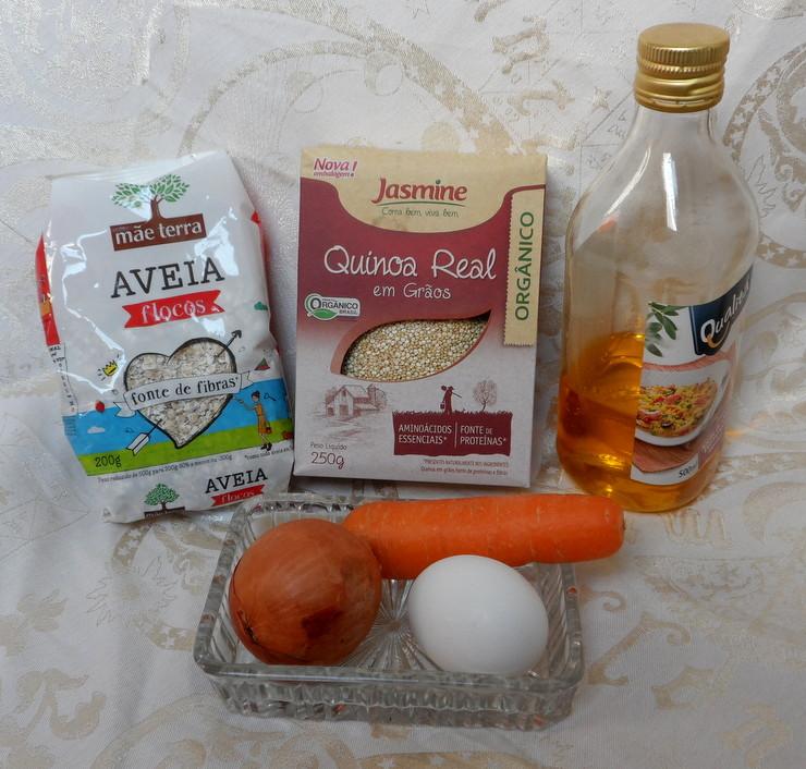 Hambúrguer de quinoa - ingredientes