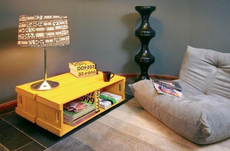 caixotes de madeira -decoração