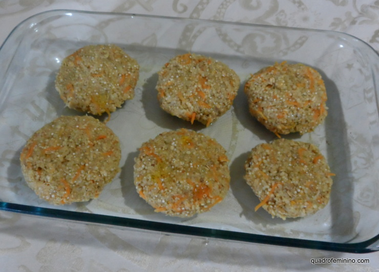 hambúrgueres de quinoa - pré pronto