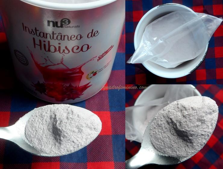 Chá Instantâneo de Hibisco com Colágeno Nu3