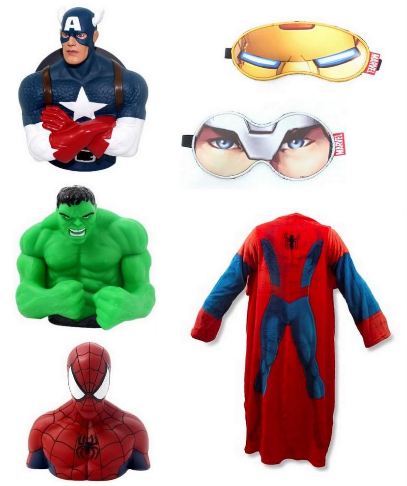 Cofres, máscaras, cobertor com mangas - Super Heróis Marvel