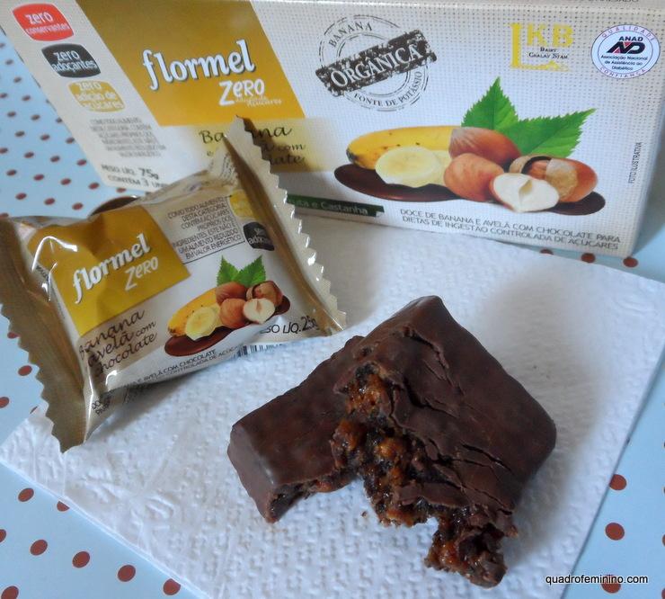 Flormel Zero Banana Orgânica e Avelã com Chocolate