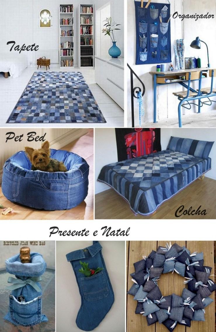 Jeans, decoração, organização e pet
