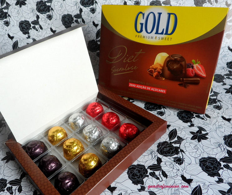 Caixa de Chocolate Diet - Gold Premium Sweet
