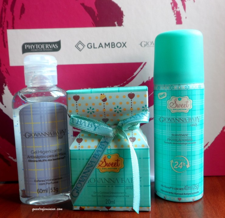 Glambox Phytoervas e Giovanna Baby - Gel Higienizador, Deo Colônia e Desodorante Giovanna Baby
