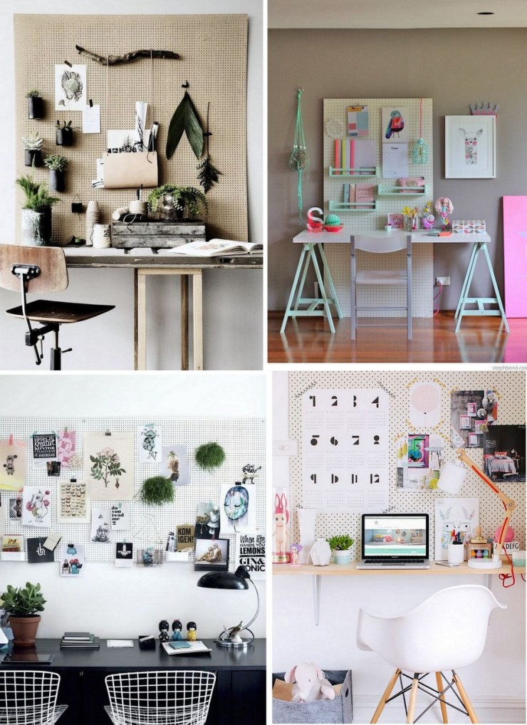 Home Office - Pegboard -painel perfurado