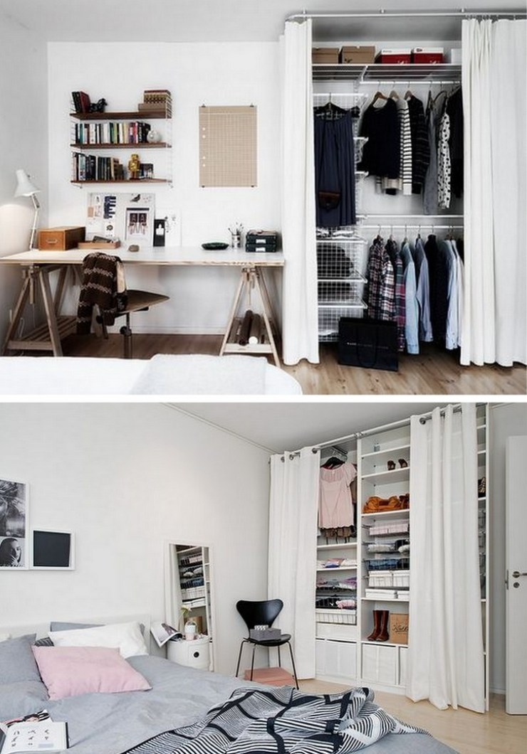 ideias montar um mini closet