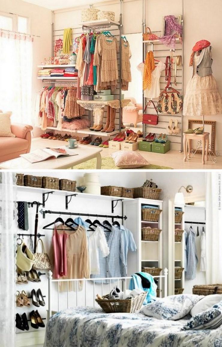 ideias para montar mini closet