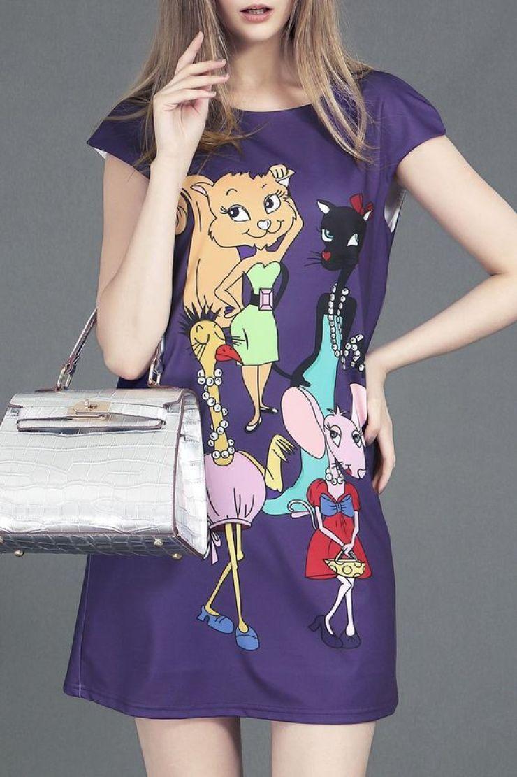 vestido cartoon Dezzal