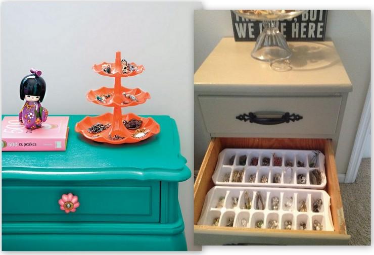criatividade na organização - friteiras e formas de gelo
