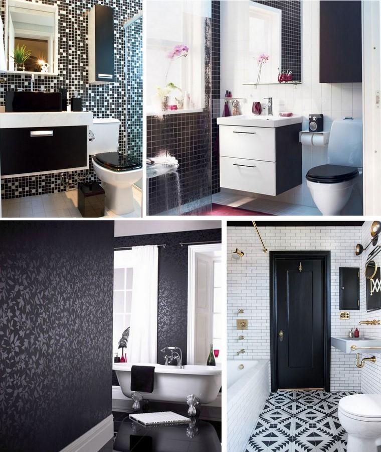 Decoração Preto e Branco - Banheiros