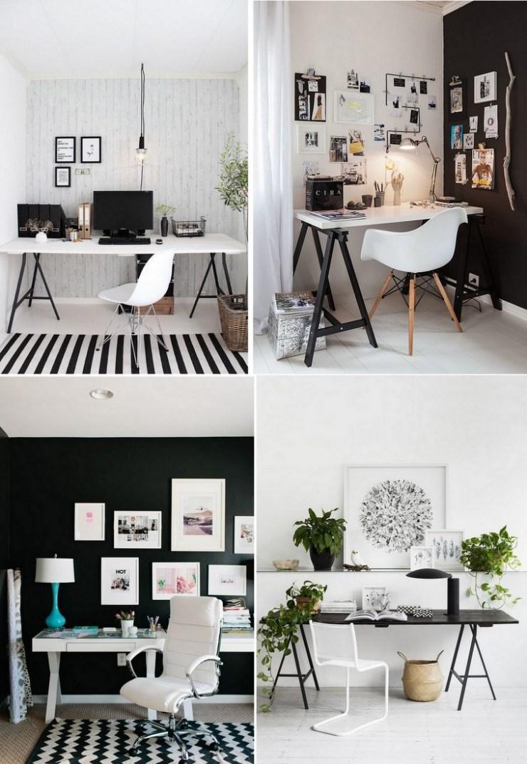 Decoração Preto e Branco - Home Office