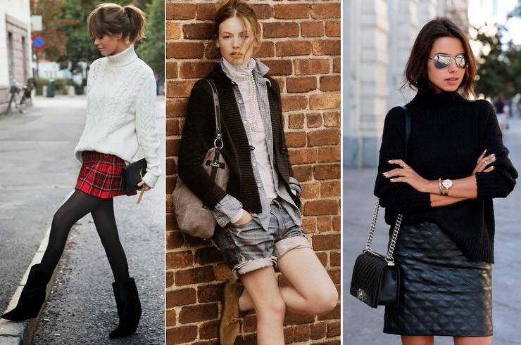 shorts - mini saias - gola alta no inverno