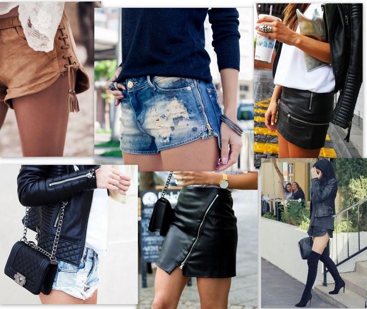 usar shorts e mini saias - inverno