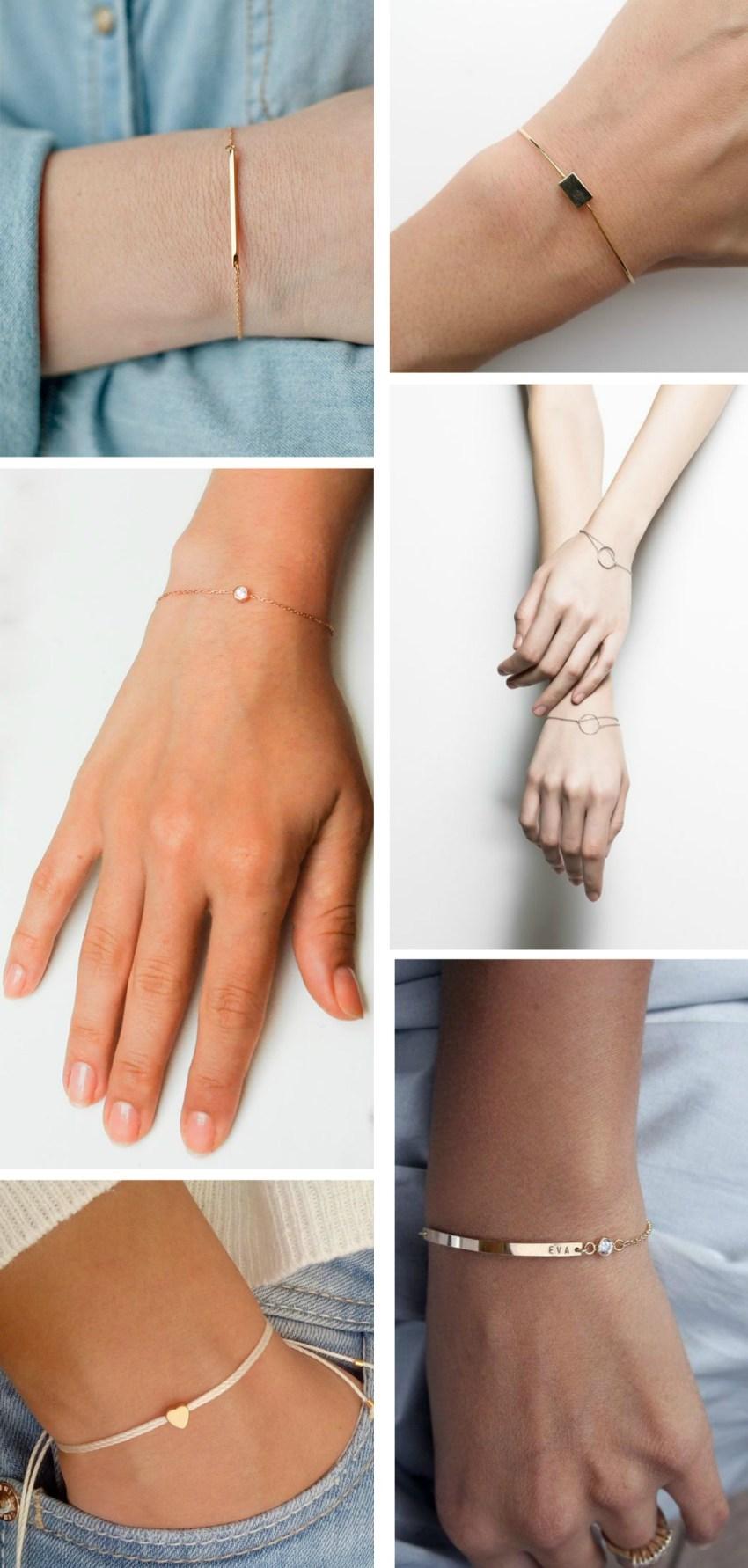 pulseiras delicadas