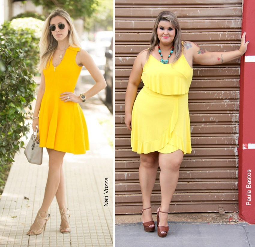 vestidos amarelos - coloridos