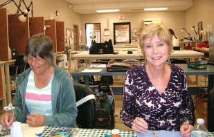 Sandy VanMieghem and Judy Butts, Beaded Wire Pendant Class