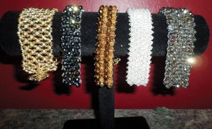 Cathy Hasson's Netted and Embellished Netted Bracelets