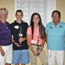 Winning foursome left to right: Alyce Mancini, Garrett Esry, Mia Mesa and Gloria Contreras