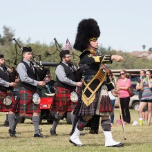 What a day for bagpipes! (Photo taken by Ken Haley)
