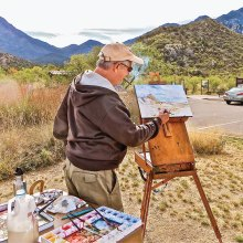 Madera Canyon, a painter's delight for Don.