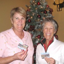 Flight 4 first place winners: Lynn Thomas and Diana Simmons