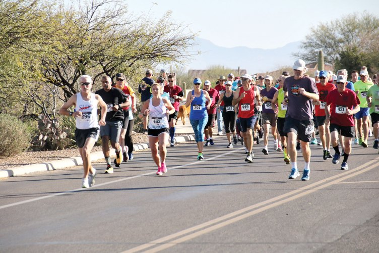 Quail Creek Sports Run participants — and, they're off!