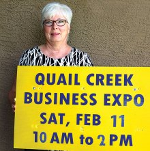 Sydney Ranney, treasurer of the Quail Creek Performing Arts Guild, is manager of the annual Business Expo; photo by Jeffrey Webster