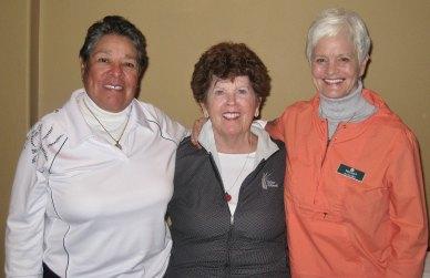A Flight winners Vivian Parle, Mary Jo Schupmann and BJ Hanks