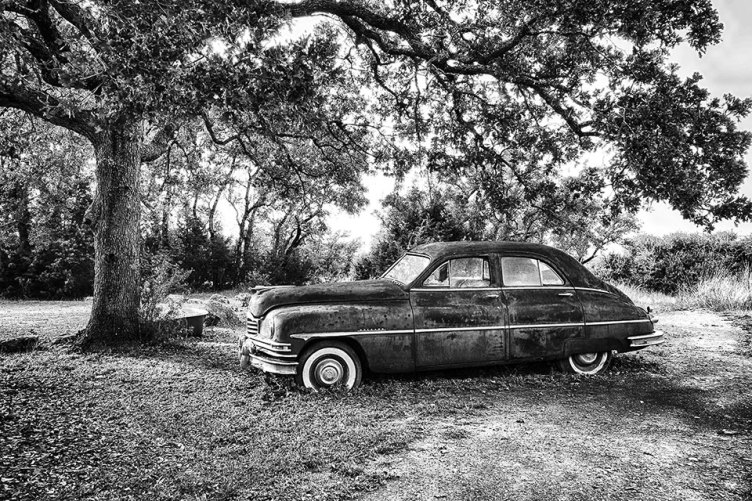Joan Muckley's first place photo, Old Texas Packard