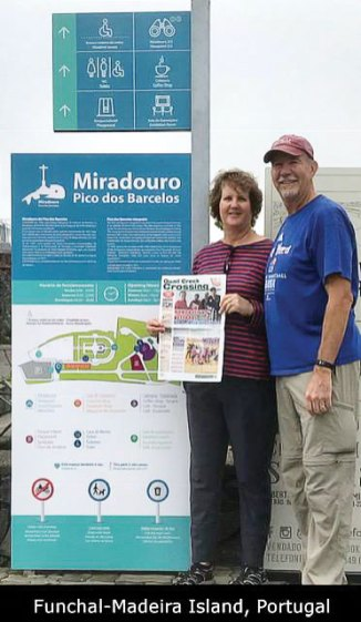 Doug and Kathy Stacken cruised home from Portugal this past November along with their copy of The Crossing.