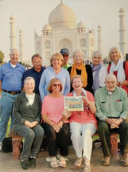 Joyce Shumate and friends traveled to India in March visiting the Taj Mahal.