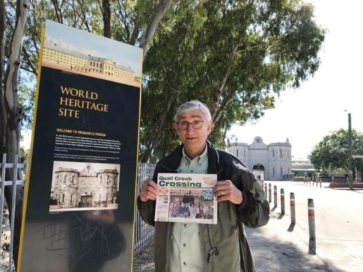 Ron Hassler and Mary traveled 9,779 miles to Western Australia's Fremantle Prison.