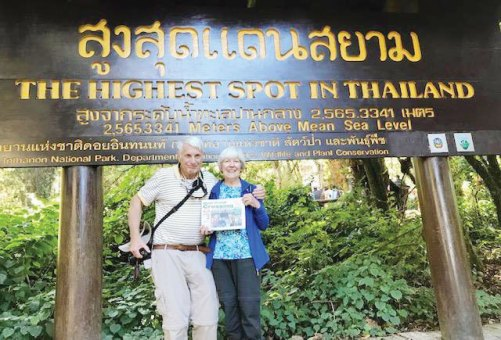 Marjorie and Jon Williams spent the Christmas and New Year holidays traveling Indonesia and Thailand.