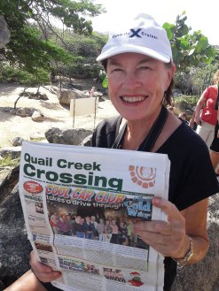 Lois Owen and Rich Stebbins sailed away to the southern Caribbean in December along with their issue of the Crossing.