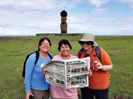 One more tick off the bucket list for Quail Creek resident Christine Sanchez and friends who took the trip of a lifetime and traveled to Easter Island off the Coast of Chile.