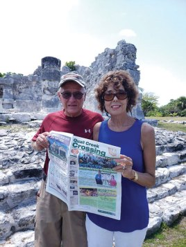 Oh MYan…the Crossing made it to the ruins in Cancun with Linda and Dave Carver.