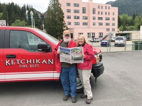 North to Alaska were Christine and Gary Tokle with Ketchikan being one of the destinations.